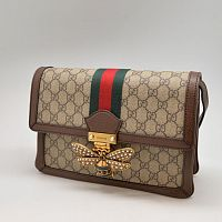 Сумка Gucci Queen Margaret с узором GG Supreme R-837
